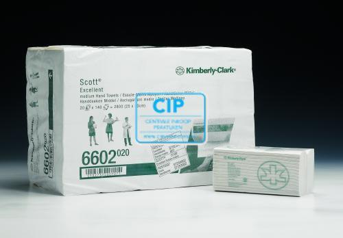 KIMBERLY CLARK SCOTT PLUS HANDDOEKJES C-GEVOUWEN 2-LAAGS WIT 25x33cm NR.6602 (20x132st)