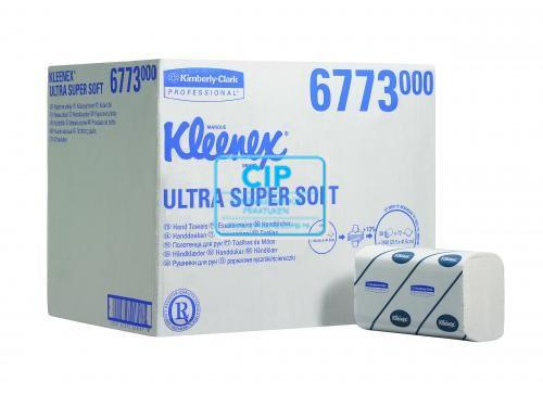 KIMBERLY CLARK HANDDOEKJES I VOUW 3-LAAGS ULTRA SUPER SOFT WIT GROOT 21,5x41,5cm NR.6773 (30x72st)