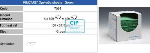KIMBERLY CLARK BESCHERMINGSDOEKEN VOCHTWEREND 37,5x50cm NR.7093 (4x125st)