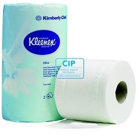KIMBERLY CLARK TOILET TISSUES 2-LAAGS WIT 12,4x10,4cm (20x2 ROLLEN)