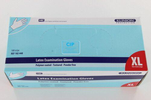 KLINION PROTECTION COATED LATEX HANDSCHOENEN POEDERVRIJ WIT EXTRA-LARGE (100st)