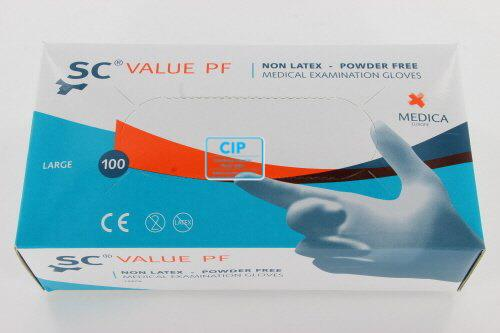 MEDICA SENSICARE VALUE HANDSCHOENEN POEDERVRIJ NON-LATEX LARGE (100st)