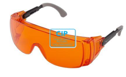 EURONDA BESCHERMBRIL UVEX OTG 'OVER THE GLASSES' ORANJE 261015