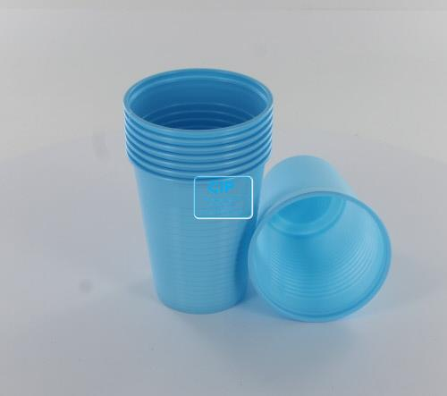 MEDICOM PLASTIC BEKERS LICHTBLAUW 180ml (100st)