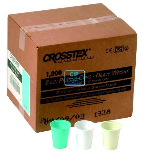 CROSSTEX PLASTIC BEKERS GEEL 148ml (1000st)