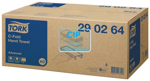 TORK ADVANCED HANDDOEKJES C-GEVOUWEN 2-LAAGS WIT 31x25cm NR.290264 (20x120st)