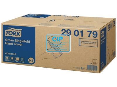 TORK ADVANCED HANDDOEKJES ZZ-GEVOUWEN 2-LAAGS GROEN 23x25cm NR.290179 (15x300st)