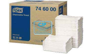 TORK ADVANCED WASH CLOTH FOLDED 5-LAAGS 70x30cm NR.746000 (250st)