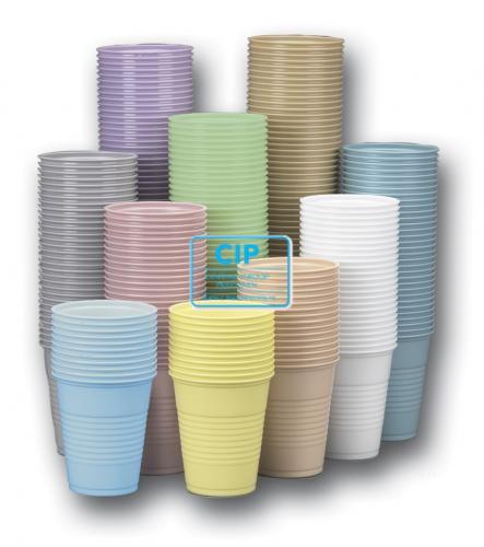 CROSSTEX PLASTIC BEKERS PEACH 148ml (1000st)