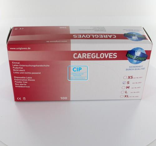 FHS CARE HANDSCHOENEN POEDERVRIJ LATEX SMALL WIT (100st)