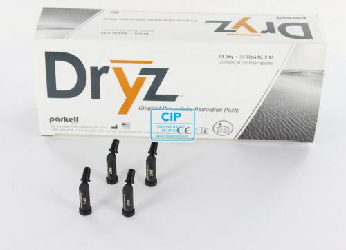PARKELL DRY-Z BLU GINGIVAL RETRACTION PASTE UNIT DOSE PACK CAPSULES (30x0,24gr)
