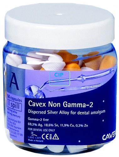 CAVEX NON GAMMA-2 CAPSULES 1 SPILL (50st geel-wit)