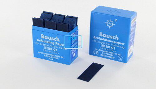 BAUSCH ARTIKULATIEPAPIER BK01 BLAUW IN DISPENSER (300 strips)