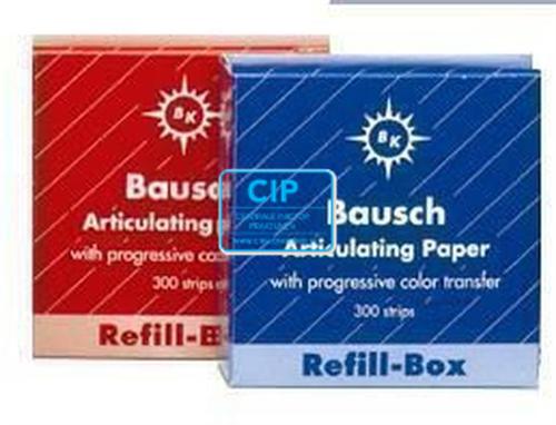 BAUSCH ARTIKULATIEPAPIER BK1002 REFILL ROOD (300 strips)