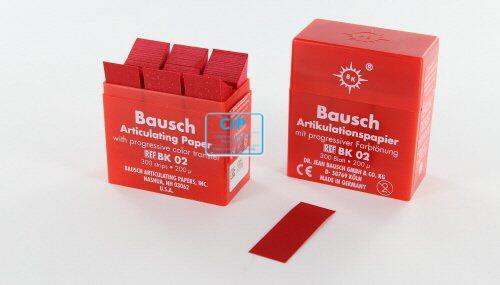 BAUSCH ARTIKULATIEPAPIER BK02 ROOD IN DISPENSER (300 strips)