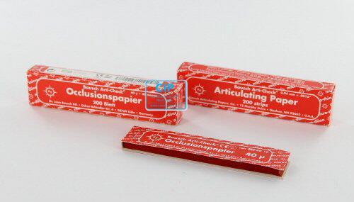 BAUSCH ARTIKULATIEPAPIER BK10 ROOD (200 strips)