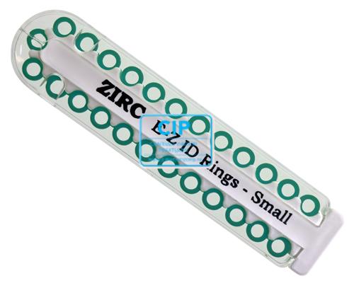 ZIRC E-Z ID CODE-RINGEN SMALL J TEAL ZEEGROEN (25st)