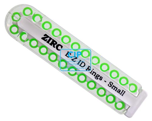 ZIRC E-Z ID CODE-RINGEN SMALL P NEON GROEN (25st)