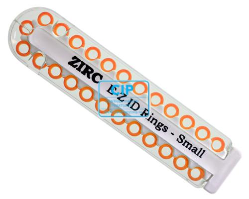 ZIRC E-Z ID CODE-RINGEN SMALL Q NEON ORANJE (25st)