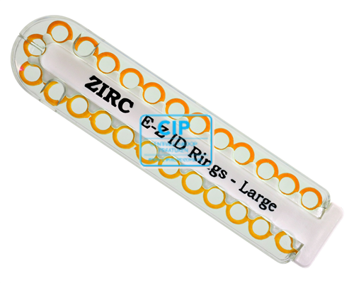 ZIRC E-Z ID CODE-RINGEN LARGE Q NEON ORANJE (25st)