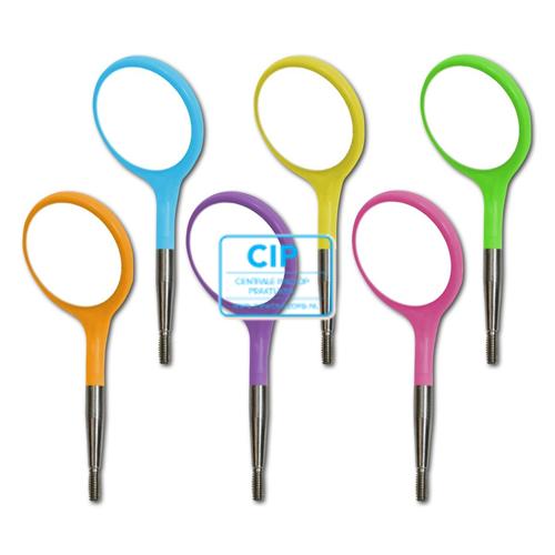 ZIRC CRYSTAL PLASTIC MONDSPIEGELS MAAT 5 NEON BASISASSORTIMENT (12st, 6 kleuren)