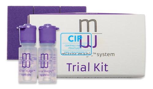 ZIRC MAGIC MIRROR TRIAL KIT (2 flesjes à 6 ml Anti-Fog Solution en 4 Swipe Pads)