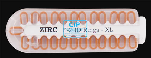 ZIRC E-Z ID CODE-RINGEN X-LARGE BRUIN (25st)
