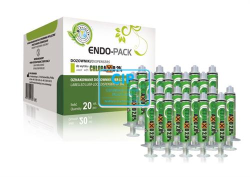 CERKAMED ENDO PACK VOOR CHLORAXID/NATRIUM HYPO 2% (20x5cc spuitjes met label)