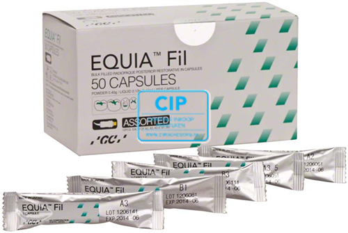 GC EQUIA FIL INTROPACK CAPSULES ASSORTED (50st/EQUIA Coat)