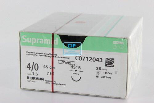 B. BRAUN SUPRAMID HECHTMATERIAAL 4-0 MET NAALD HS15 45cm (36st)