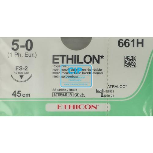 J&J ETHILON 5-0 661H MET NAALD FS2 45cm (36st)