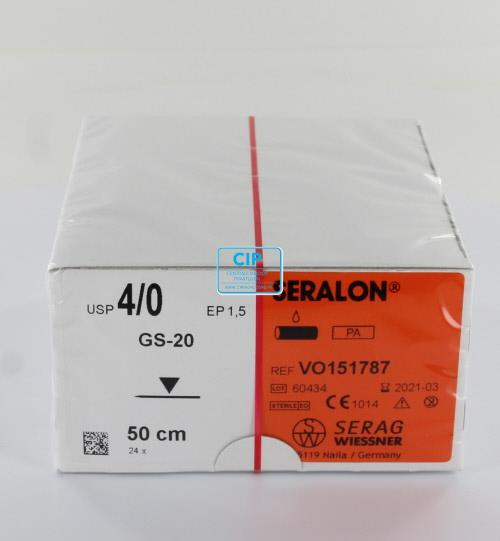 SERAG WIESSNER SERALON BLAUW 4-0 GS20 50cm (24st)