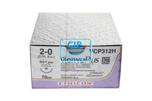 J&J VICRYL PLUS 2-0 VCP312H MET NAALD SH1 70cm (36st)