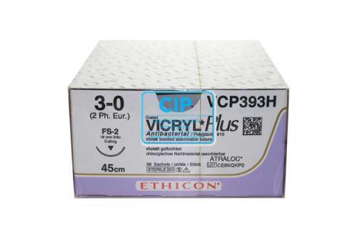 J&J VICRYL PLUS 3-0 VCP393H MET NAALD FS2 45cm (36st)