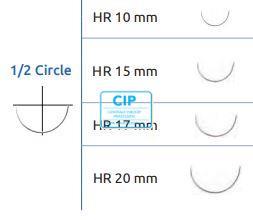SMI POLYPROPYLENE BLAUW 6-0 MET 1/2 CIRKEL RONDBODY NAALD HR15 75cm (12st)