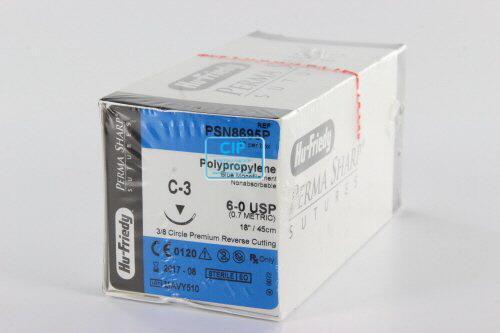 HU-FRIEDY POLYPRO HECHTZIJDE PSN8695P MET NAALD C3 45cm (12st)