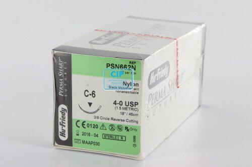 HU-FRIEDY HECHTNYLON 4-0 PSN662N MET NAALD C6 45cm (12st)