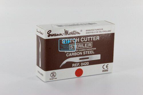 SWANN MORTON STITCH CUTTERS CARBON STERILE 6,5cm (100st)