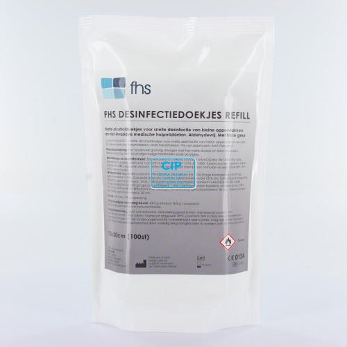 FHS DESINFECTIE ALCOHOLDOEKJES REFILL 13x20cm (100st)