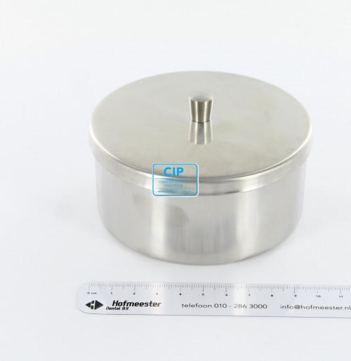 SKANSTAAL WATTENROLLEN HOUDER RVS MET DEKSEL (10x5cm)