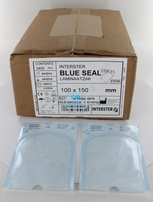 INTERSTER BLUESEAL LAMINAATZAKJES 100x150mm (2400st)