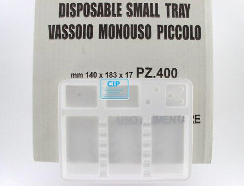 ASA DISPOSABLE TRAYS SMALL (183x140x17mm/400st)