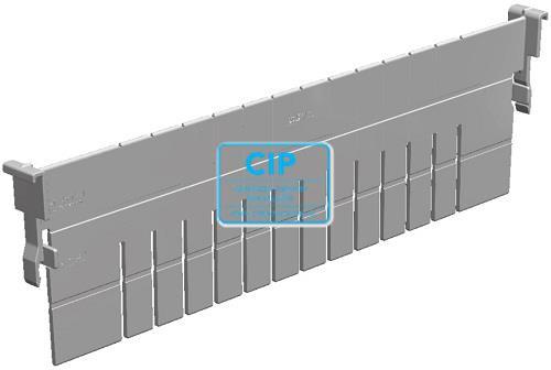 H+H SYSTEM FLEXMODULE VOORRAADSYSTEEM VERDELER L400xH100 GRIJS ABS