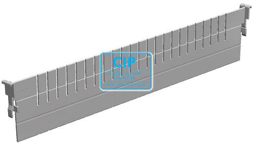 H+H SYSTEM FLEXMODULE VOORRAADSYSTEEM VERDELER L600xH100 GRIJS ABS