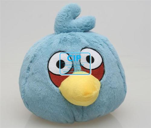 BEST PRESENT PLUCHE ANGRY BIRD BLAUW