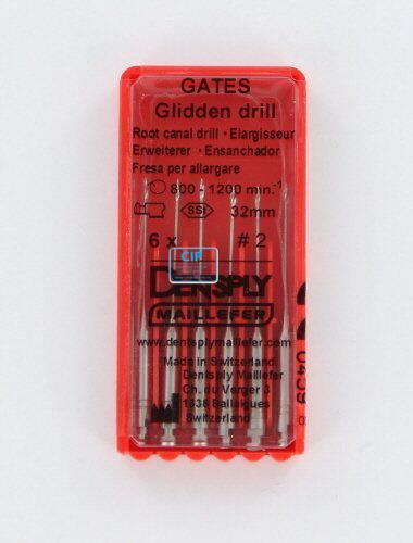 MAILLEFER GATES GLIDDEN DRILLS 32mm NR.2 (6st)