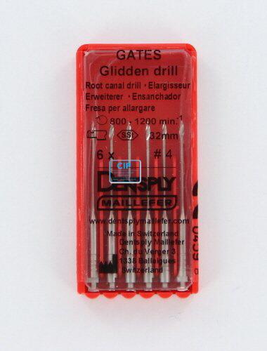 MAILLEFER GATES GLIDDEN DRILLS 32mm NR.4 (6st)