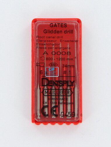 MAILLEFER GATES GLIDDEN DRILLS 34mm NR.1 (6st)