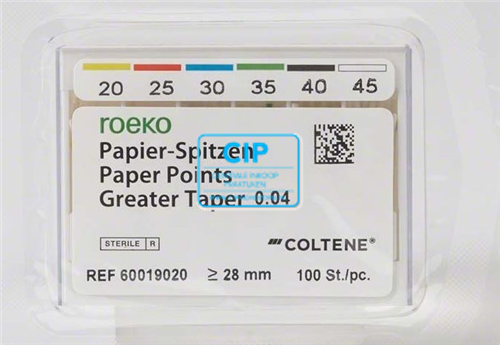ROEKO PAPER POINTS GREATER TAPER .04 NR.25 ROOD (100st)