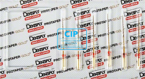 DENTSPLY PROTAPER GOLD FINISHING FILES 31mm F2 ROOD STERIEL (6st)